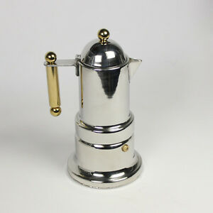 Image Is Loading 4 Cups Stainless Steel Italian Coffee Stovetop Maker