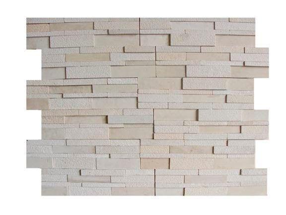 MINT WHITE 3D  N-FORMAT  NATURAL STONE FOR WALLS BACKSPLASH PANEL