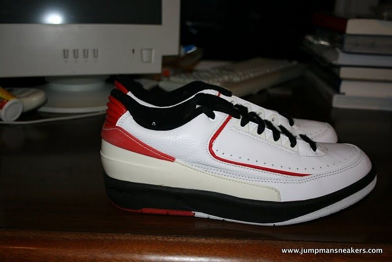 Jordan 2 Low II White Black Red 1994 SAMPLE space jam
