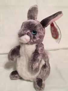 TY Beanie Baby - HOPPER the Rabbit -  Pristine with Mint Tags - RETIRED