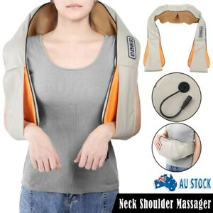 Neck Shoulder Massager with 8 Massage Nodes Kneading Shiatsu Heating Pain Relief