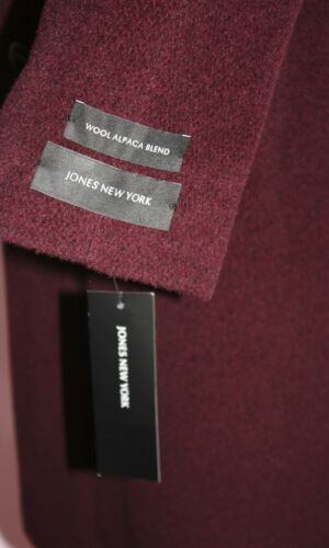 Size Nwt Jones Wine Color Coat Wool Women's 14 New York B74wB