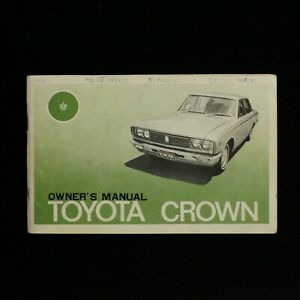 1970 Toyota Crown Operators Owners Manual with Wiring Diagram Pullout