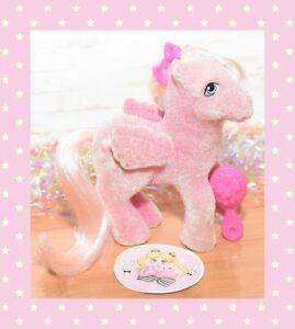 ❤️My Little Pony MLP G1 Vtg 1985 So Soft Hippity Hop Flocked Pegasus Bunny❤️