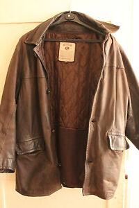 Blouson-en-cuir-marron-Outfitters
