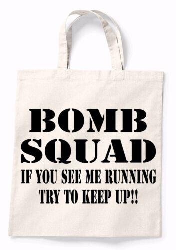 Bomb Squad Funny Canvas Tote Shopping Bag Cotton Printed Shopper Bag Gift