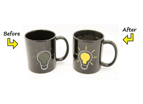 Heat Hot Reactive Changing Color Magic Mug Ceramic Coffee Tea Sensitive Cup