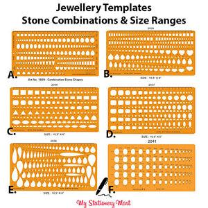 jewellery design drawing drafting template stencil stone gemstone