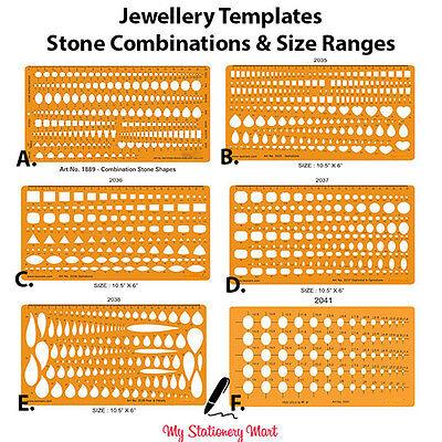 Jewellery Making Organic Stones Design Drawing Drafting Template Stencils