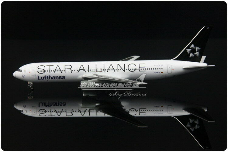 1 400 Apollo Lufthansa STAR ALLIANCE B767-300ER Passenger Airplane Diecast Model