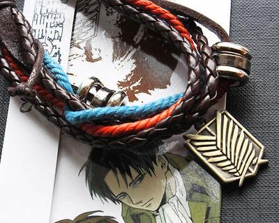 Cool Rock Shingeki no Kyojin Attack on Titan Survey Corp Bracelet Cosplay Metal