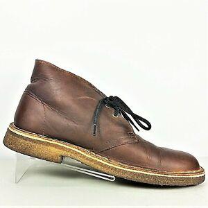d71ddf8ce Image is loading Clarks-Originals-Desert-Boot-Mens-Brown-Leather-Crepe-