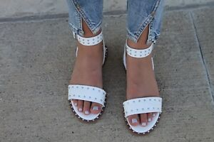 460588183d9 MIA FANNIE STUDDED WHITE SANDAL Sz. 6 BRAND NEW IN BOX FUN sold out ...