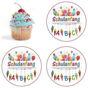 Essbar-Tortenaufleger-Muffinaufleger-Einschulung-Schulanfang-Party-Deko-Schultuete