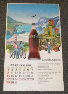 1974 1975 Coca Cola Calendar Coke Outdoors Look Up America Post Watergate