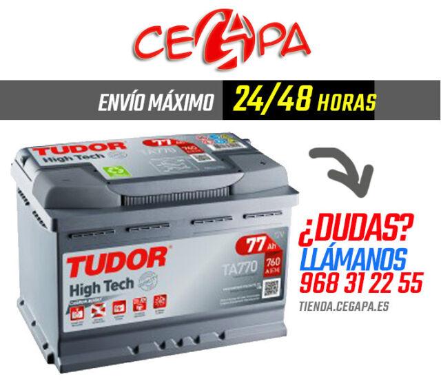 Batería Tudor TA770  Coche High Tech 12V 760A 77 AH - Envío Gratis 24/48 horas