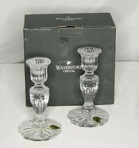 Waterford-Crystal-Candlesticks-Prentiss-6-034-Set-of-2-With-Box