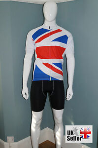 5a03126c7 SALE mod cycling cycle jersey shirt top in GB Union Jack style