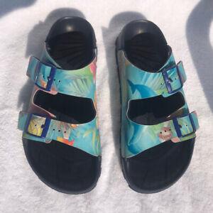Birkenstock Birki's Multicolor Island Blue Women's 2 Strap Sandals Euro 41 US 10