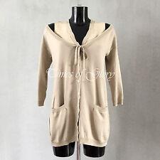 Moschino MAINLINE Women WOOL Silk Layer Oversize Cardigan Jumper Size S IT40