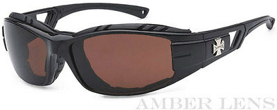Black C51 Mens Choppers Bikers Riding Foam Padded Motorcycle Sunglasses