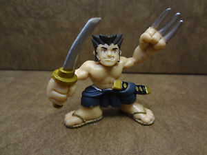 Marvel Super Hero Squad Hasbro WOLVERINE Mini Figure Brown Orange