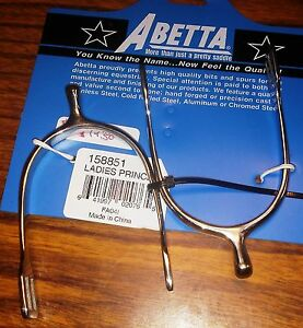 New-Abetta-Ladies-English-Spurs-Prince-of-Wales-Stainless-Steel-Horse-Tack