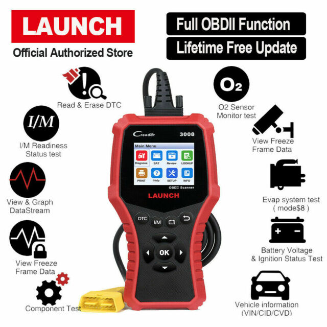LAUNCH CR3008 OBD2 CAN Diagnostic Scanner Auto Check Fault Code Scan Tool MIL