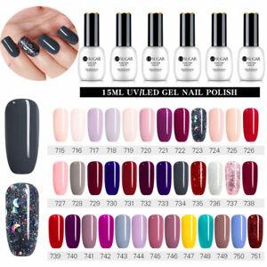 15ML-UR-SUGAR-Solid-UV-Gel-Color-Smalto-per-unghie-Soak-off-s-85-Colours