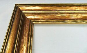 VINTAGE-BIG-FITS-18-034-X-24-034-GOLD-GILT-COUNTRY-PRIMITIVE-WOOD-FRAME-FINE-ART