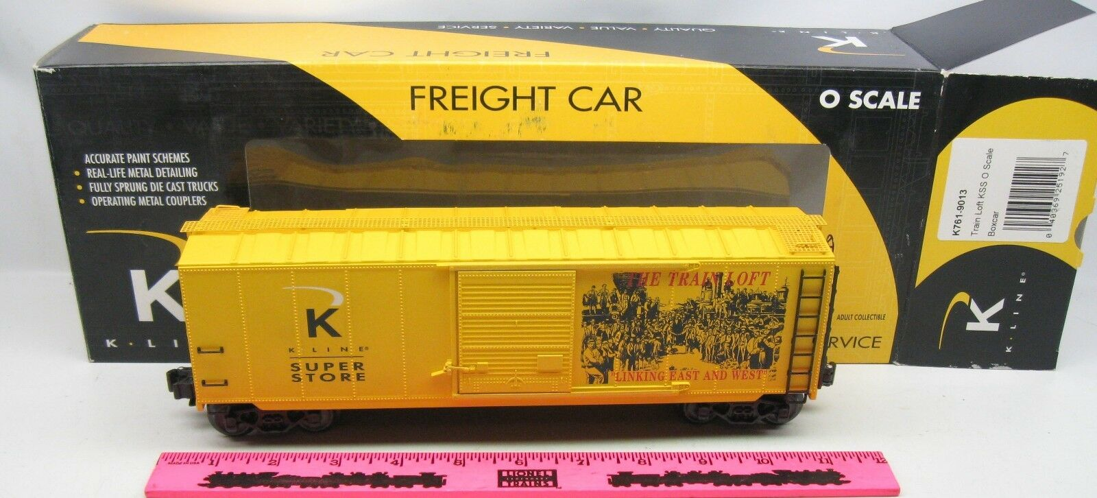 K-Line K-Line K-Line  k761-9013 Train Loft KSS O scale boxcar cd1ea4