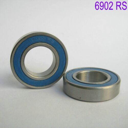 2Pcs 6902 2RS Si3N4 Ceramic Ball Bearing Rubber Sealed 61902 Bike Part 15x28x7mm