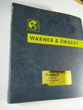 Gradall G 1000 1976 Parts Amp Service Manual Amp Operators