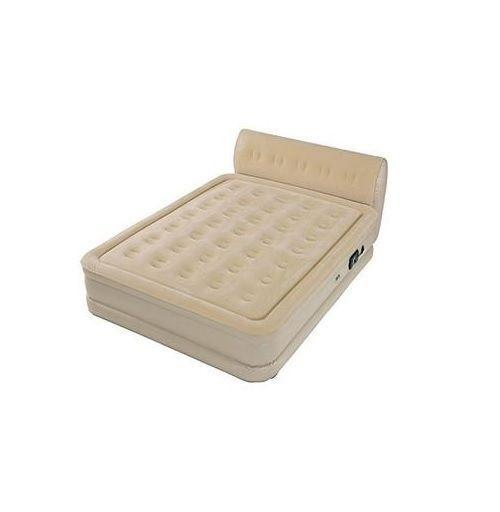 queen size raised bed built in pump serta headboard inflatable air mattress ebay. Black Bedroom Furniture Sets. Home Design Ideas