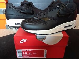 Alternativa regular casamentero  Womens Nike Air Max 1 I Leather Mesh Stealth Black Summit White 90 95  319986 039 | eBay