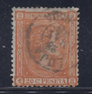 ESPANA-1875-USADO-SPAIN-EDIFIL-165-20-cts-ALFONSO-XII