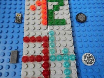 8 x Lego System Fliese Leiste schwarz 1x8 ohne Noppen Star Wars Set 10177 10143