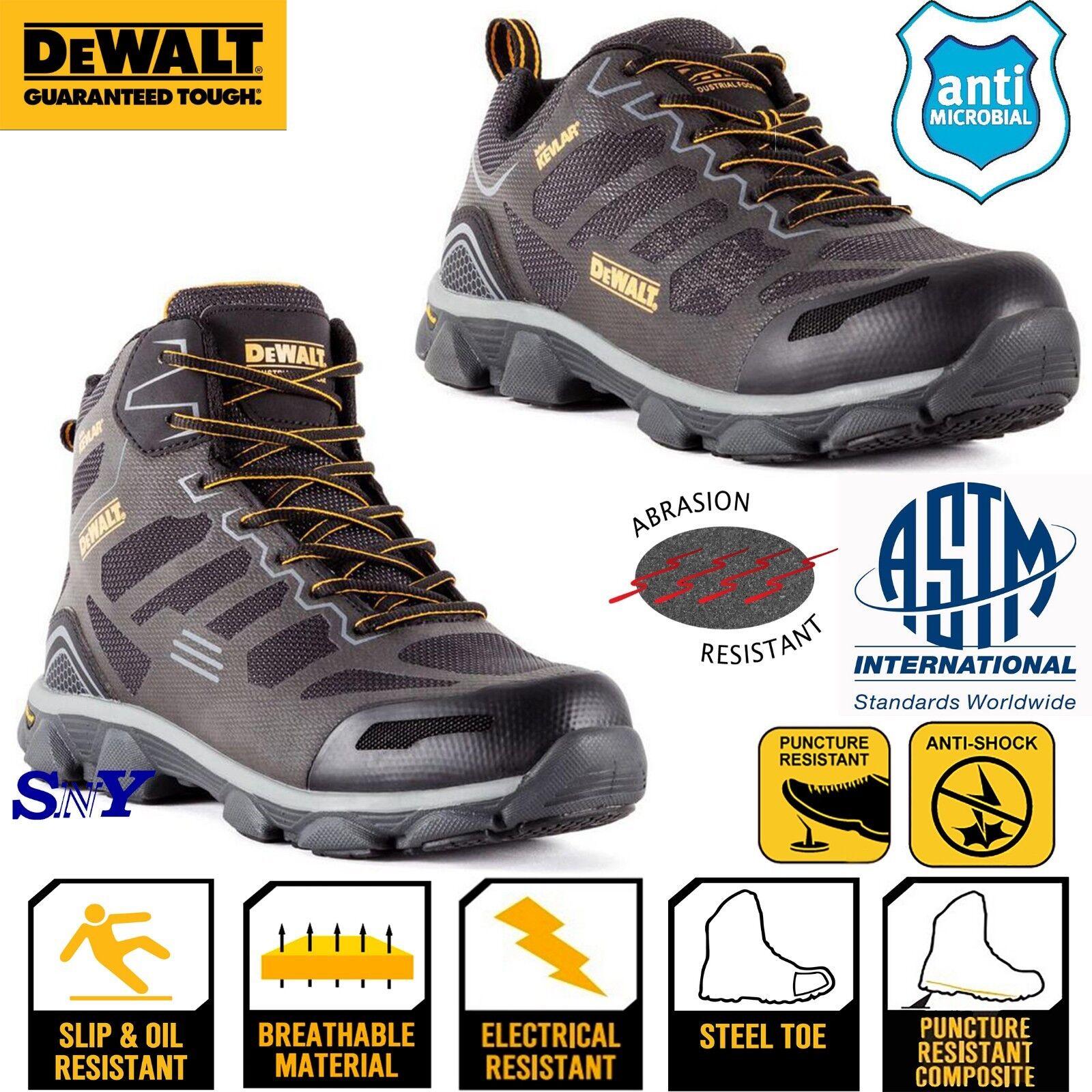 Dewalt Composite Toe shoe Slip Resistant work oxford shoes ASTM EH Rated boots
