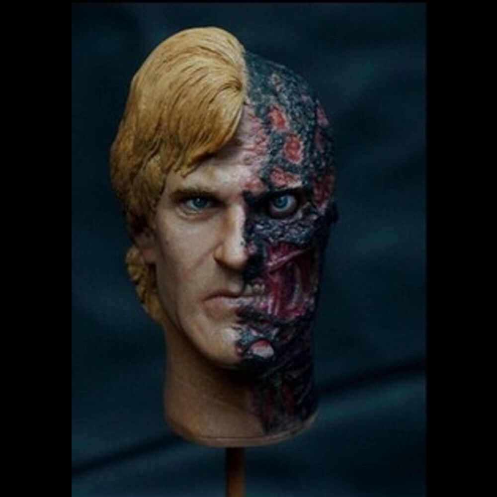 1 6 Scale Two-Face Harvey Dent Head Sculpt For 12'' Action Figures Body
