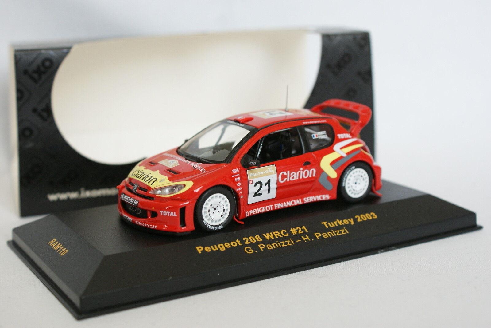 Ixo 1 43 - Peugeot 206 WRC Rally Turkey 2003 No.21