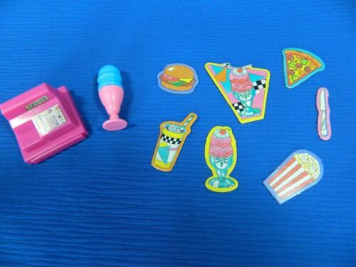 Vintage Mattel Barbie Doll Snack Shop Bar Diner Food Accessories Littles