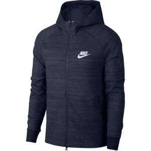 c1814bd3ee4b Nike Men s Sportswear Advance 15 Full Zip Hoodie S Blue Gray AV15 ...