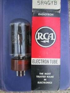 Vintage RCA 5R4 GYB VACUUM TUBE NOS, TESTS STRONG BROWN BASE! Guitar & Power Amp