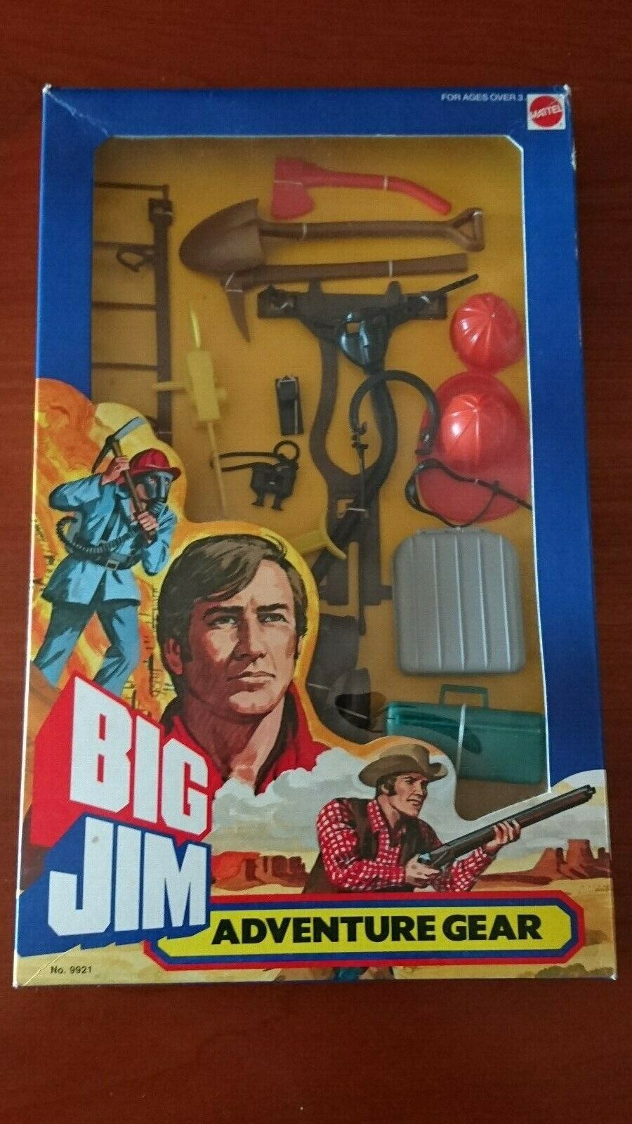 BIG JIM MATTEL ACTION SET    OUTFIT   9921   ADVENTURE GEAR FIRE RESCUE   BOXED  pas de minimum
