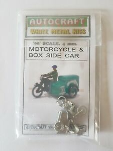 1940s 1950s Motorcycle & Box Sidecar 00 Gauge 1/76 4mm Metal Kit Oo With Rider Performance Fiable