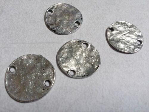 10 Metal Stamping Blanks Connectors Silver Metal Blanks 20mm Circle Links