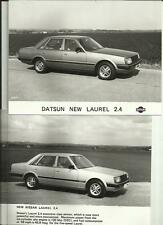 "NISSAN 300C, LAUREL 2.4 AND DATSUN LAUREL 2.4 PRESS PHOTO ""sales brochure"" 3 OF"