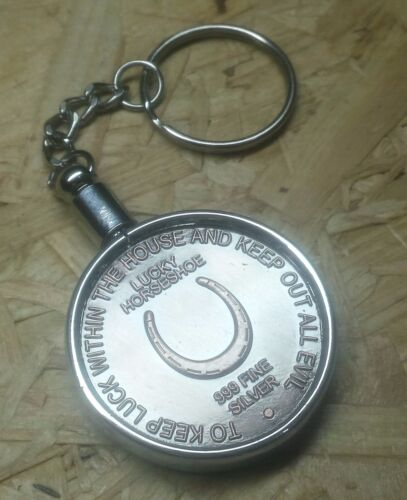 The Four Leaf Clover Good Luck Token With Key Ring Horseshoe