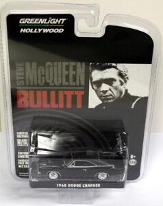 Greenlight-1-64-Scale-1968-Dodge-Charger-Black-Steve-McQueen-Bullitt-Model-Car