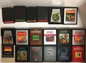 Lot-of-18-Vintage-Atari-2600-amp-Intellivision-Untested-Game-Cartridges